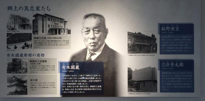 有本國蔵の功績(舞鶴ふるさと発見館所蔵)