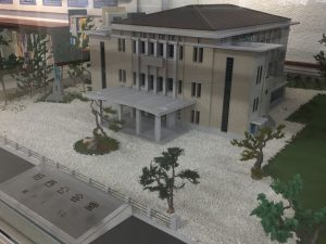 舞鶴市旧西公会堂(現西総合会館として改築)ジオラマ